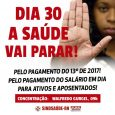 OSindicato dos Servidores da Saúde Pública Estadualavisa que vai realizar nova paralisação na Saúde Pública do Rio Grande do Norte, reivindicando a conclusão do pagamento do13º de 2017.A categoria ainda […]