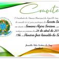 O Presidente da Câmara de Lajes e todos os vereadores convidam toda comunidade para participar da Sessão Solene em homenagem às mulheres, dentro da programação da Semana Alzira Soriano